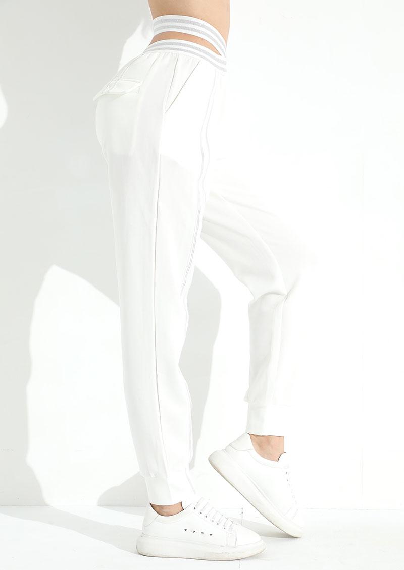 甜心辣妹交叉綁帶高腰顯瘦運動褲
