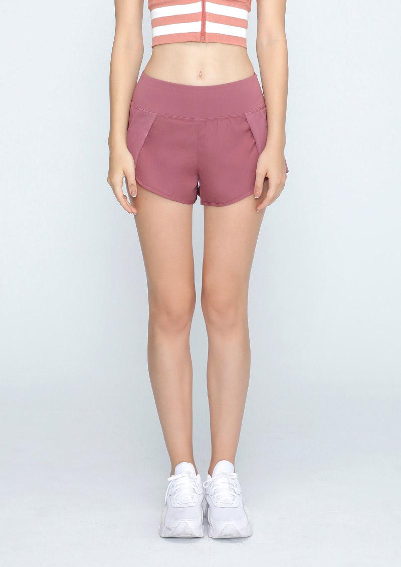 淘氣女孩舒適防走光口袋運動短褲