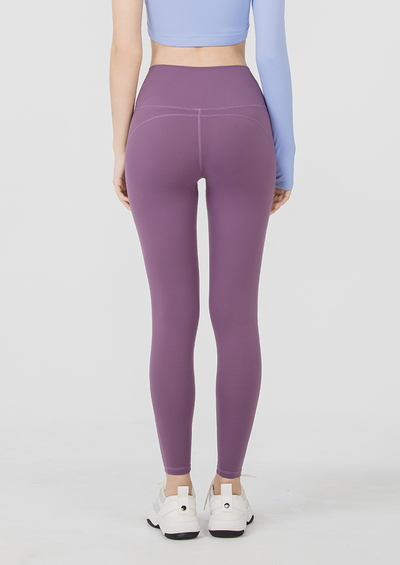 S'dare 小腰精高腰顯瘦提臀運動褲-貴氣紫