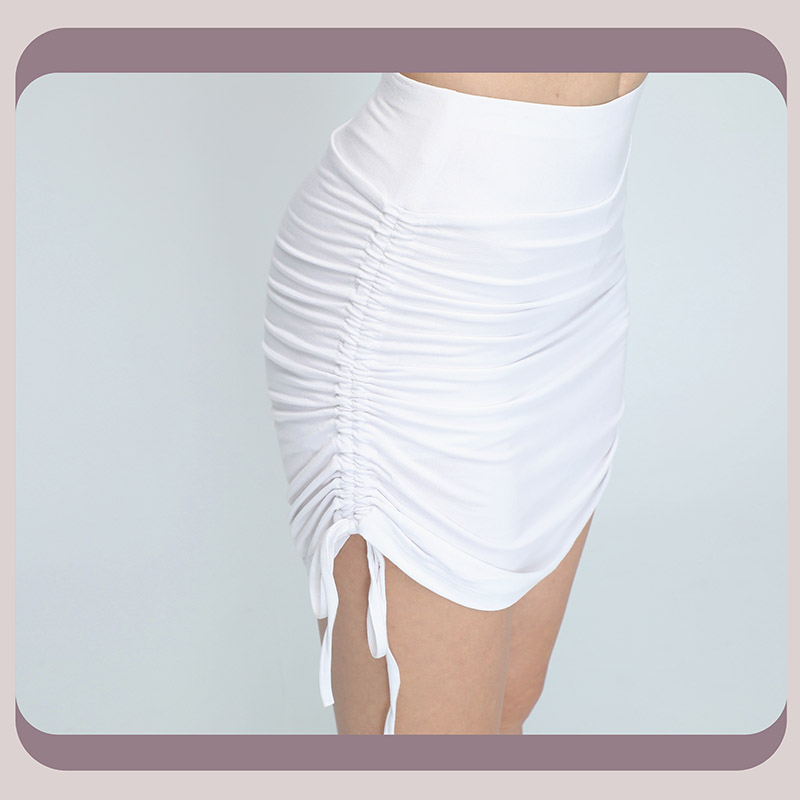 Sdare 高腰提臀下擺抽繩打結褲裙3色