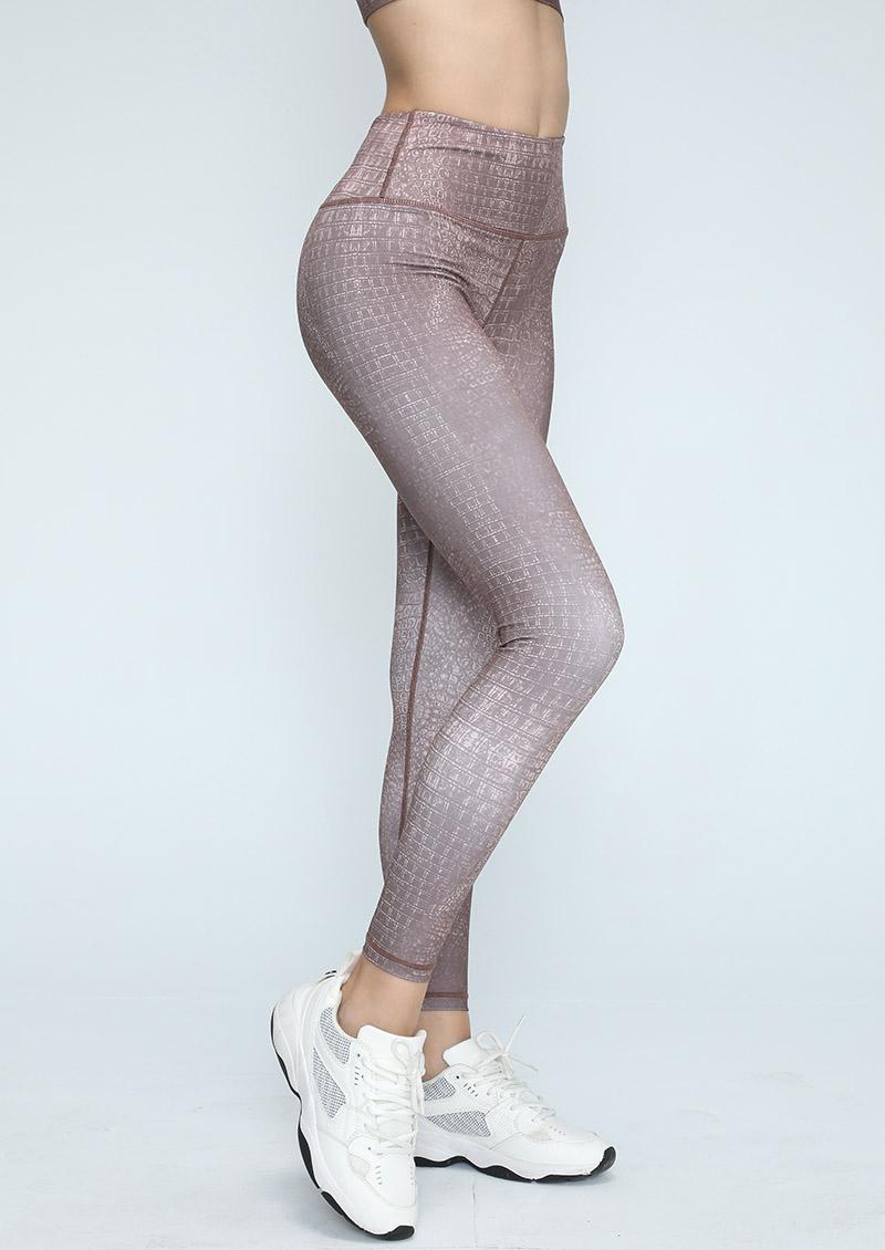 Sdare 歐美時尚鱷魚紋瑜珈運動套裝